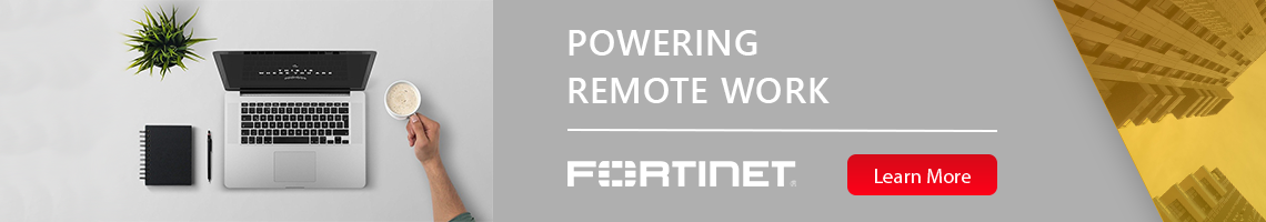 Fortinet WFH banner